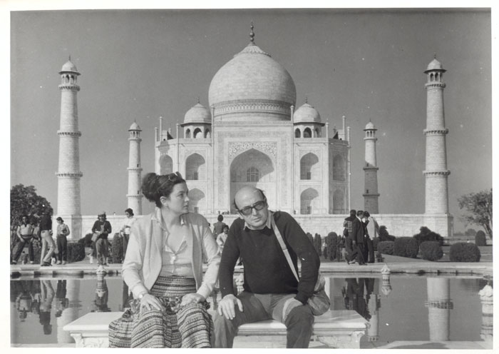 Theo Angelopoulos e Phoebe Economopoulos in India, 1981