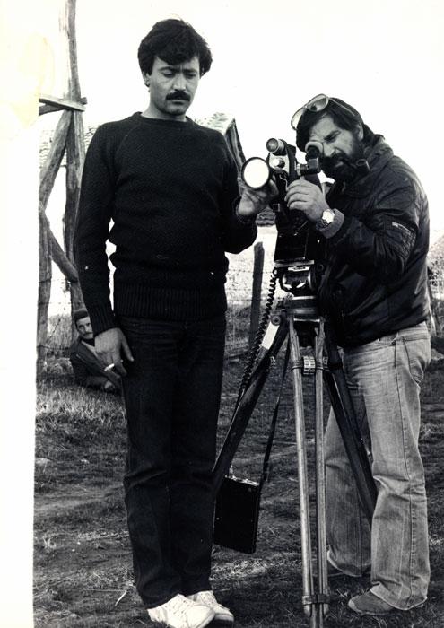 GiorgosArvanitiseAndreasSinanosduranteleripresedelfilm΄Larecita΄,1974(Organizzazionegrecadifotoreportage)